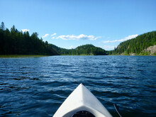 View From Inside A White Kayak...