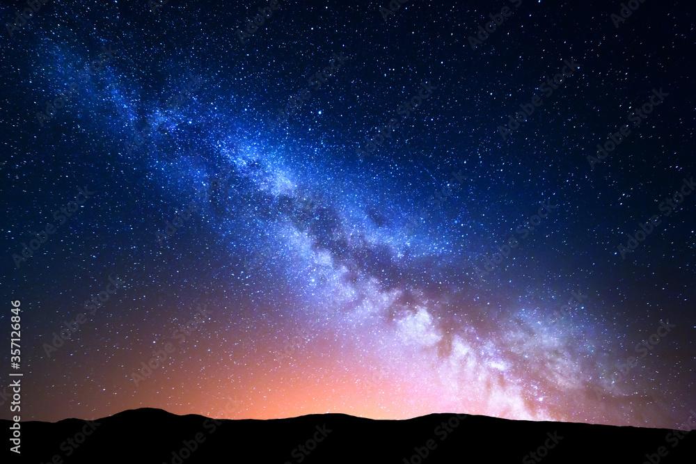Fototapeta starry night sky with stars