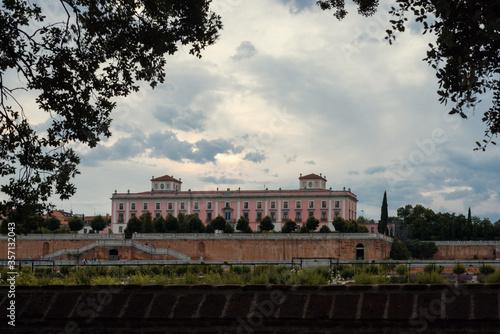 Boadilla Del Monte, SPAIN, MAY 30, 2020: sunset palacio del infante don luis Fototapeta