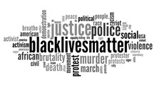 Word Cloud Of The BlackLivesMa...