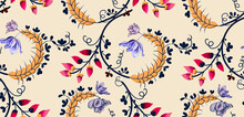 Seamless Pattern With Flowers,...