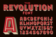A Bold Inline Vector Font Remi...