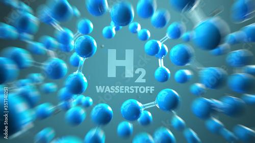 Fototapeta H2 Wasserstoff Moleküle obraz