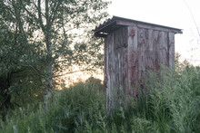 Old Wooden Double Outhouse In ...