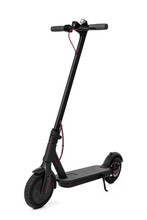 New Black Electric Scooter Isolated On White
