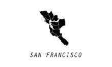 San Francisco Map City Shape Vector Illustration