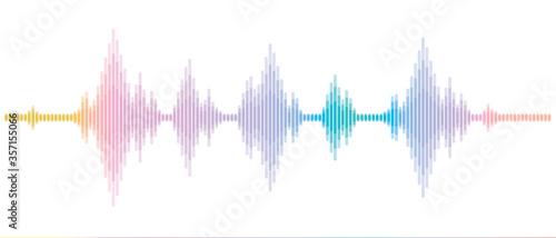 Fotografie, Obraz 周波数の波 音楽や地震の電波 sound wave and Earthquake Wave