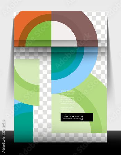 Photo Circle design a4 flyer print template, annual report design