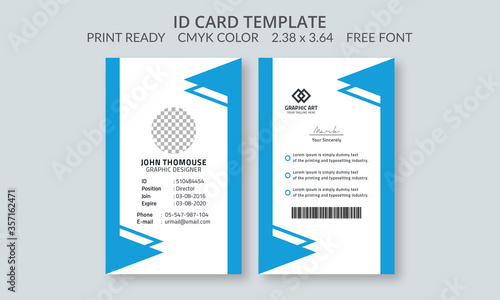 Fotomural Corporate ID Card Design Template