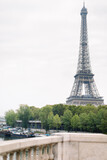 Fototapeta Wieża Eiffla - View of Eiffel Tower and river Seine in Paris, France.