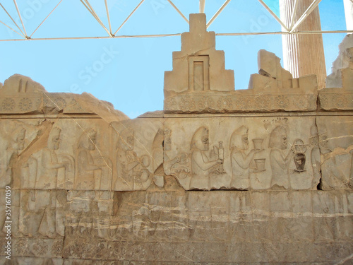 Fotografia, Obraz Bas-relief from Apadana palace in Persepolis, ancient capital of Persia, near Shiraz, Iran