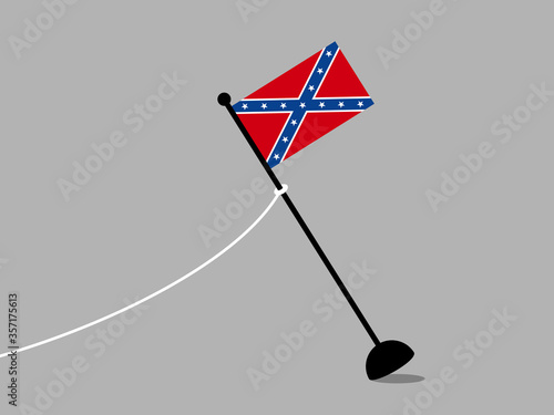 Confederate flag is removed Canvas Print