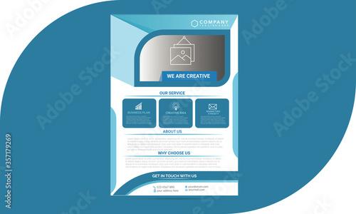 Photo Business flyer design vector template