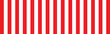 Leinwandbild Motiv red and white striped background for wide banner