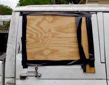 Broken Truck Window Creatively...