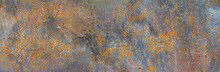 Panoramic Grunge Rusted Metal ...