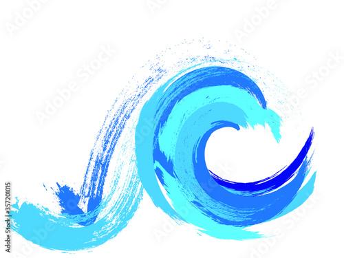 Fototapeta Grunge Wave Logo Element. Surfing Icon . Brush Stroke . Vector Illustration.  obraz na płótnie