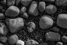 Different Sized Pebbles On The...