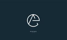 Alphabet Letter Icon Logo EA O...