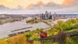 Pittsburgh city downtown skyline USA