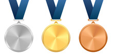 Award Medals With Blue Ribbons...