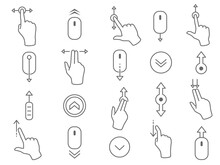 Line Scroll Gesture Icons For ...