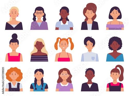 Women avatar set Tablou Canvas