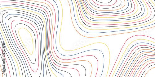 Fotografie, Obraz Modern topographic line contour map background, geographic grid map
