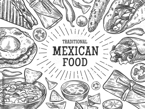 Traditional mexican food Canvas Print