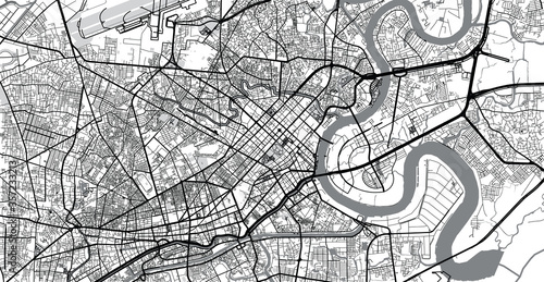 Cuadros en Lienzo Urban vector city map of Ho Chi Minh City, Vietnam