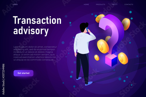 Transaction advisory illustration concept Canvas Print