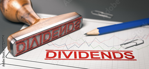 Cuadros en Lienzo Dividends, distribution of profits by a corporation to shareholders
