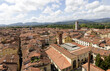 Panoramic view of City of Lucca in Tuscany, north of Italy
