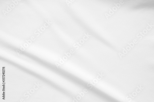 Fototapeta White fabric smooth texture surface background obraz