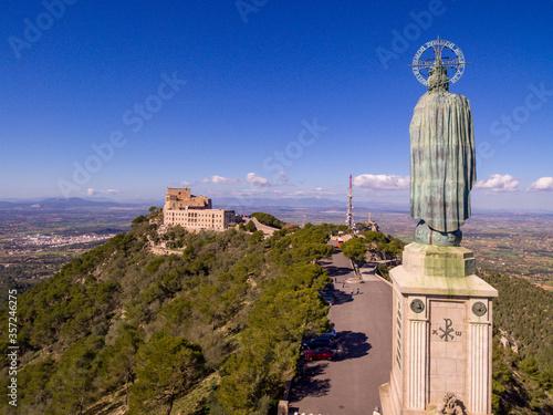 monumento a Cristo Rey, 1934, Santuario de Sant Salvador, Felanitx, Mallorca, balearic islands, Spain