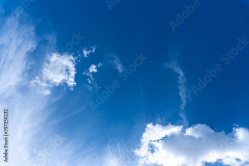 Leinwand Poster Schöne Wolken bei Sonnenschein