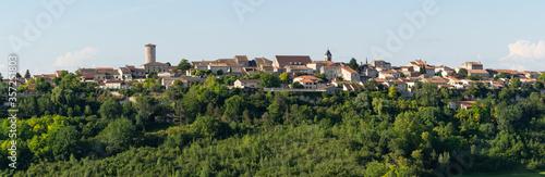 Fotografia, Obraz Panorama du village de Puymirol, Lot-et-Garonne, France