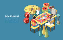 Board Games Isometric Background