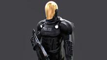 Futuristic Sci-fi Police Offic...