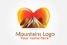 Logo Mountains Love Heart Icon...