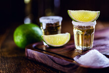 Small Glass Of Tequila, Fiery ...