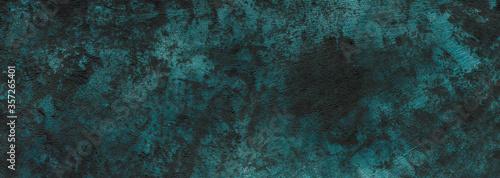 Photo stucco texture, dark blue-green background, banner