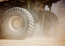 Close Up Of Machinery Wheels O...