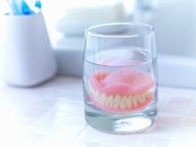 Close Up Of Dentures Soaking I...