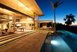 canvas print picture - Infinity pool and modern patio