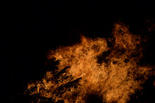 Beautiful Hot Burning Tall Fla...