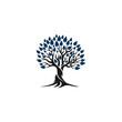 Root of the Tree logo illustrating a tree roots, branches. Excellent logo template for landscape, gardening, business or in numerous fields related to nature.