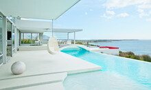 Swimming Pool And Modern House