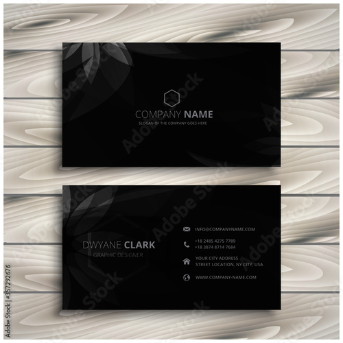 Foto abstract modern business card illustration design template