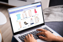 Women Shopping Online On Couch